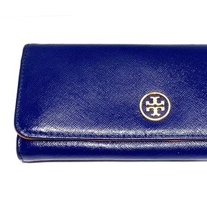 Tory Burch Leather Blue Wallet